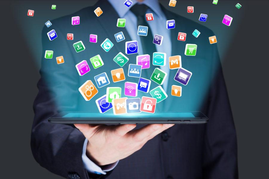 Open Data - Tablette avec icônes